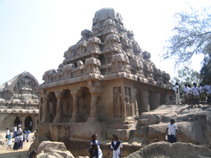 The sculptures at  Mamallapurram
