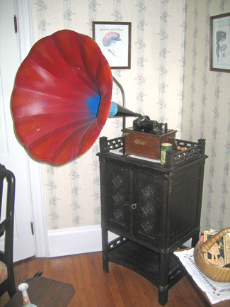 A Gramaphone exhibit in the museum