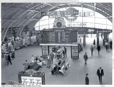 an old picture of a train station where Golden Acre now sits