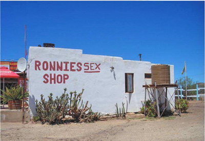 Image of Ronnie's Sex shop, a world famous bar in the middle of nowhere